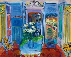 Raoult Dufy, Interieur à la fenetre ouverte, 1928, ©
