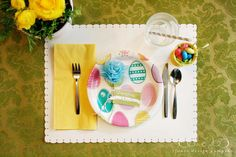 easter table for the kids