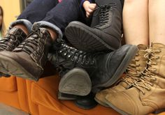 Combat boots look great with pretty much everything!