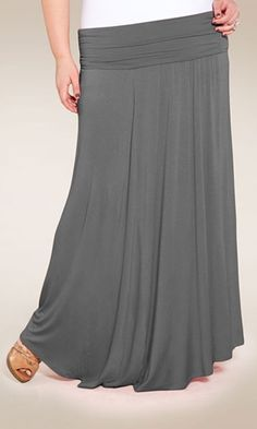 Plus Size Maxi Skirt at www.curvaliciousclothes.com Sizes 1X-6X  Boho-chic meets everyday sensibilities in this fold over maxi skirt. Our plus size, California Maxi Skirt is the perfect combination of coverage and style for any season.