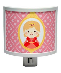 Another great find on #zulily! Pink Floral Princess Night-Light #zulilyfinds