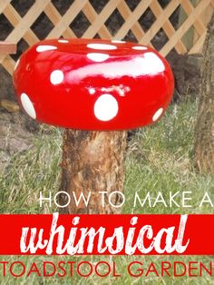 Lindsay from My Creative Days is here to show off her adorable polka dot whimsical Toadstool garden! They make such cute DIY garden decor! You wont believe what she used to make them. Enjoy! -Linda  DIY Garden Decor   This was a $1 wood salad b