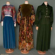 THREE DESIGNER DRESSES, 1970s