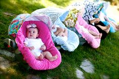 Design Your Own Infant Car Seat Slip Cover 4 looks by ChubbyBaby, $50.00
