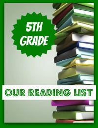 5th Grade Book List for independent reading