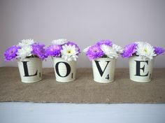 DIY scrable buckets - could put a birthday girl's name on the buckets instead.