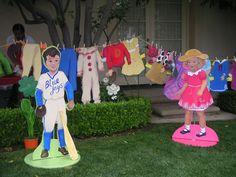 Dick & Jane giant paper dolls