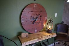 Reclaimed Rustics: Wire Spool Clock