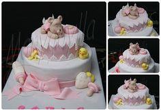 pastel para, shower cake, ana paula, para babi, fondant cake, babi fondant, tarta bautizo, babi shower