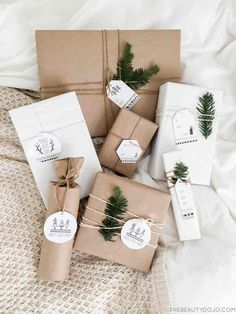 12 Creative Gift Wrap Ideas Using Simple Brown Paper - Cindy Hattersley Design