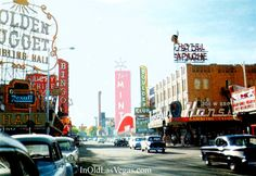Downtown Las Vegas 1957, Looking Westward. las vega