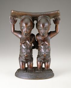 "In the central African Luba culture, twins are called ""children of the moon"" & are associated w/ the spirit world"