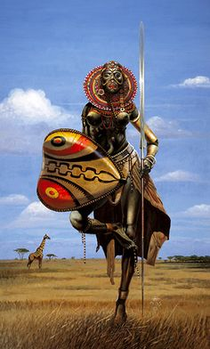 African Warrior Woman by GaiaFly, via Flickr