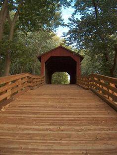 Covered bridge near Springfield, Illinois