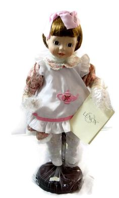 Vintage Doll Porcelain Lenox I'm A Little Teapot Mint in Box Games of Childhood Collection Never Displayed COA Little Teapot