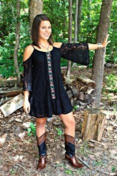 Voom: Monroe Open Shoulder Dress in Black $122.99! #SouthernFriedChics