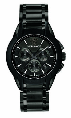 The Versace Black Character Chrono Quartz Watch. #VersaceWatches #Versace