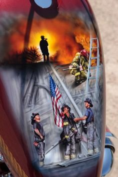 9/11 Fire Fighter Tribute Chopper Tank