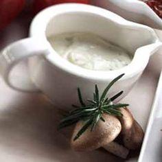 Champignonroomsaus: Een prachtige blanke saus, rijk gevuld met verse champignons.