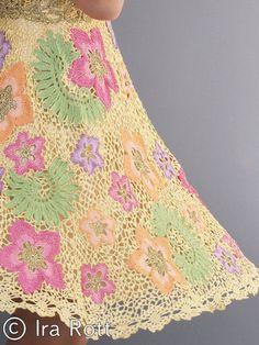 Handmade Irish Crocheted Flower Dress