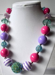 Little Girl Bubblegum Necklace by Jilly Bean Jewelry www.facebook.com/jewelrybyjillybean