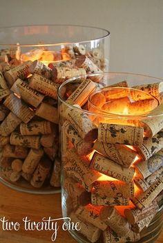 wine corks centerpieces