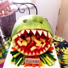 Dinosaur Watermelon for Bodhi's Dinosaur themed 5th birthday party.