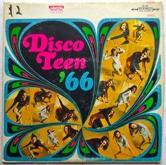 1960s Disco Teen '66 LP Record Album Vintage Vinyl