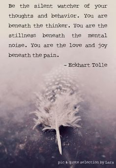 You are the stillness beneath the mental noise.