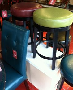 Pier 1 Stratmoor Counterstools and Mason Bonded Leather Dining Chair