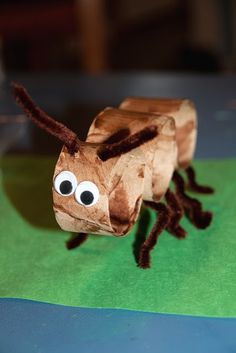 Toilet paper roll ant