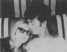 favourite picture of them. Cynthia Lennon with her husband John. early early 60s (or very late 50s)