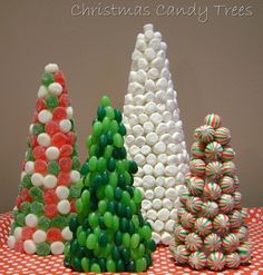 Christmas Candy Trees |