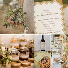 rustic wedding theme featuring burlap & lace is ideal for fall #wedding #fall #burlap #lace #rustic