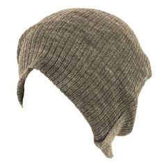 Gossip Girl Soft Ribbed Ski Beanie Slouch Slouchy Knit Hat Heather Gray $16.95