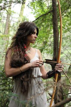 Katniss? warrior. archer. hunter.