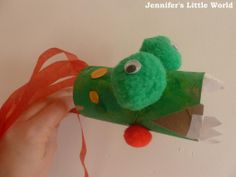 Chinese New Year Craft - toilet roll tube dragons