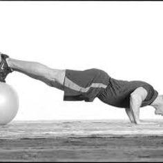 Stability Ball Push Ups