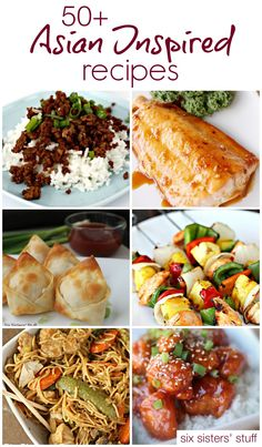 50+ Asian Inspired recipes to make take out at home | SixSistersStuff.com