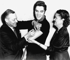 Elvis Presley & other celebrities raised awareness about the importance of being vaccinated, helped bring an end to polio in the US. (Photo credit: March of Dimes via @jan issues Wilke James Roadshow)