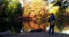 Two generations of #FallFoliage appreciators. Photo by Milind Jadhav #centralpark
