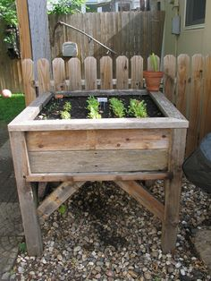 Garden Box. // herb garden by deck?