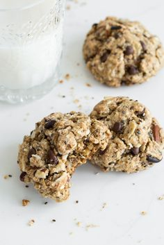 Chewy Trail Mix Cookies (Vegan + Gluten-free)