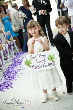 Flower Girl and Ring Bearer ...And they lived happily ever after sign