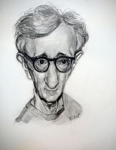 Woody Allen   Graphite drawing by Richard J Frost