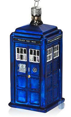 Tardis ornament- I want this so badly!