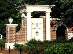 Ole Miss - University of Mississippi Rebels - campus wall entrance sign
