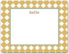 Hello Flat Note Cards available @Shop Bham
