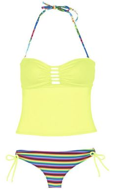 The Best Bathing Suits for Your Bod If you want to hide your tummy, high waists or tankinis are a great option. Avoid low-rise bottoms and add frilly details up to to draw attention there.
