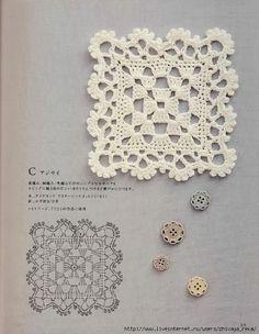 Crochet Lacy Granny Square. ☀CQ #crochet http://www.pinterest.com/CoronaQueen/crochet-granny-squares-and-motifs-corona/